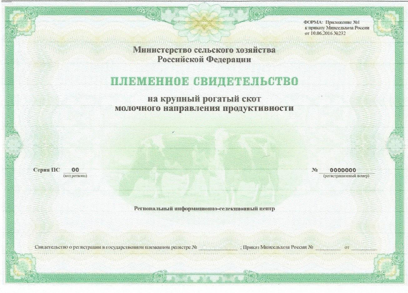 Министерство сельского хозяйства и продовольствия Пермского края утвердило методику по порядку формирования и выдачи племенных свидетельств